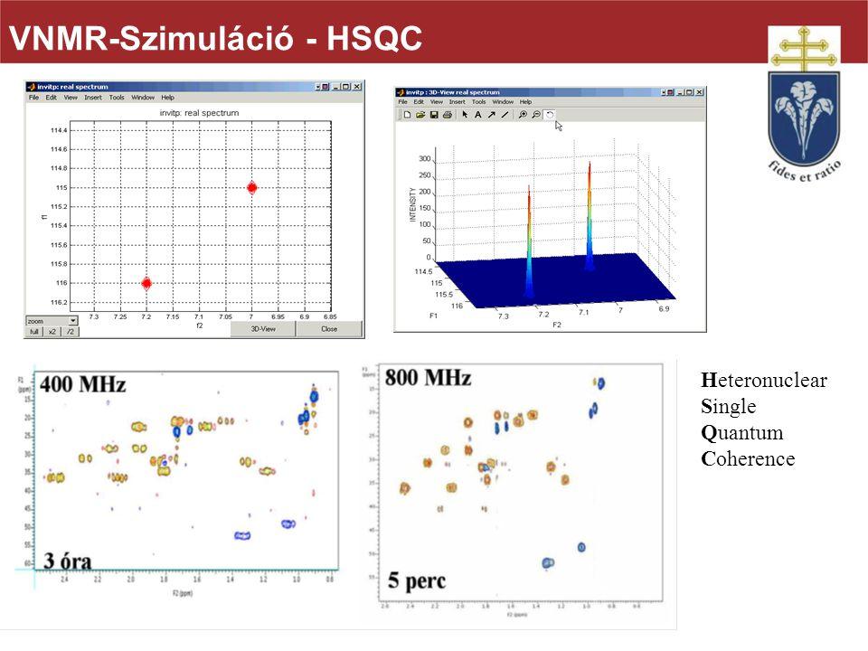 VNMR-Szimuláció - HSQC