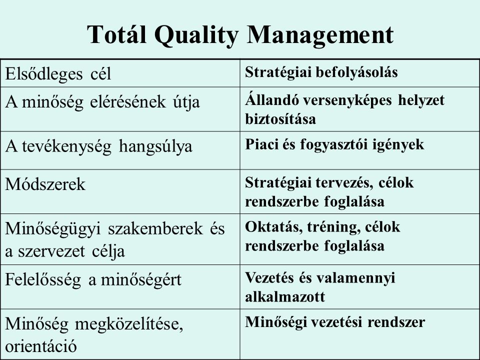 Totál Quality Management