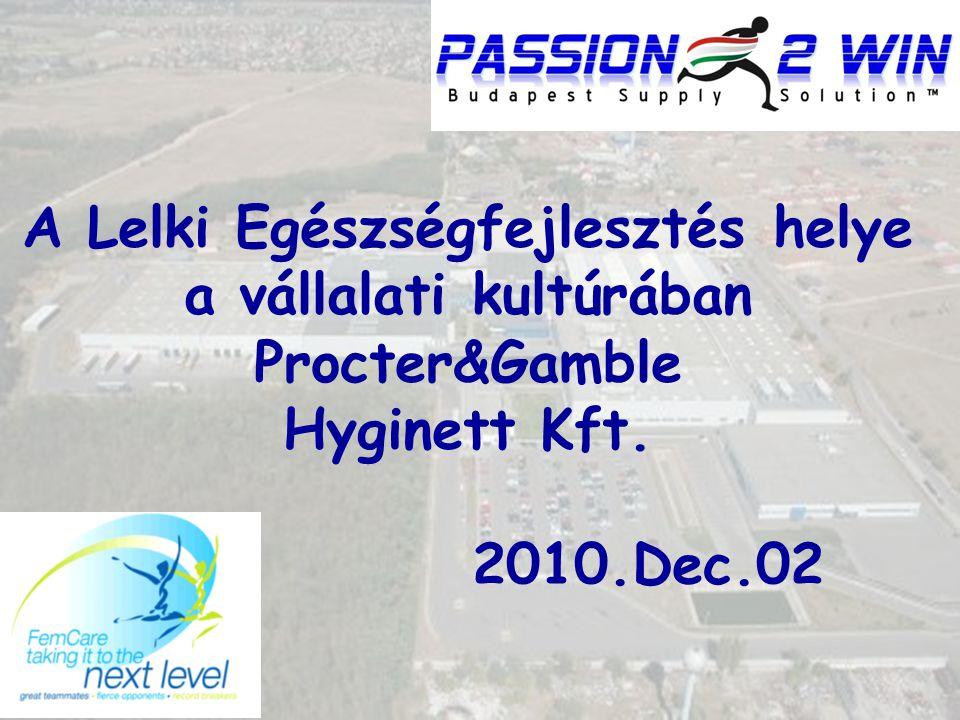 A Lelki Egészségfejlesztés helye a vállalati kultúrában Procter&Gamble Hyginett Kft.