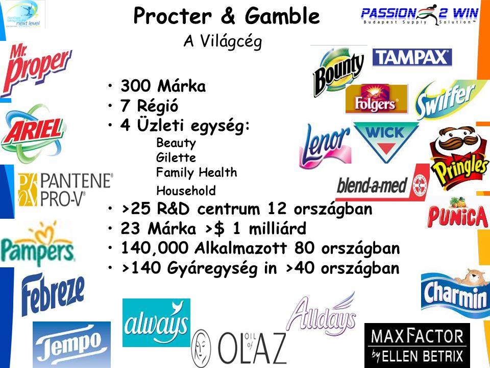Procter & Gamble A Világcég 300 Márka 7 Régió