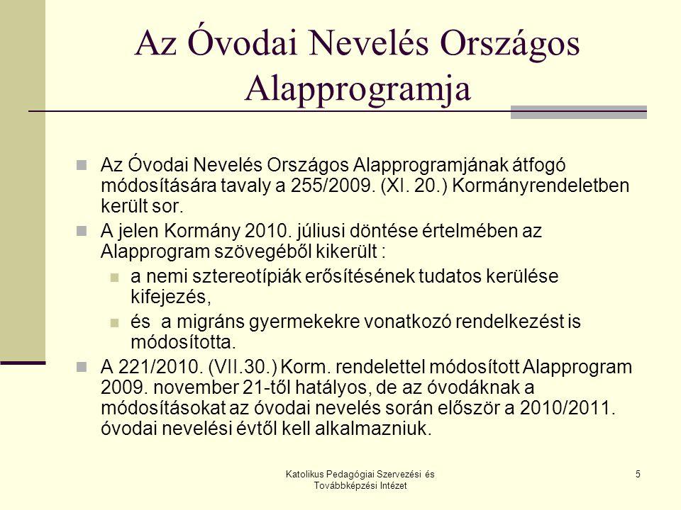 Az Óvodai Nevelés Országos Alapprogramja