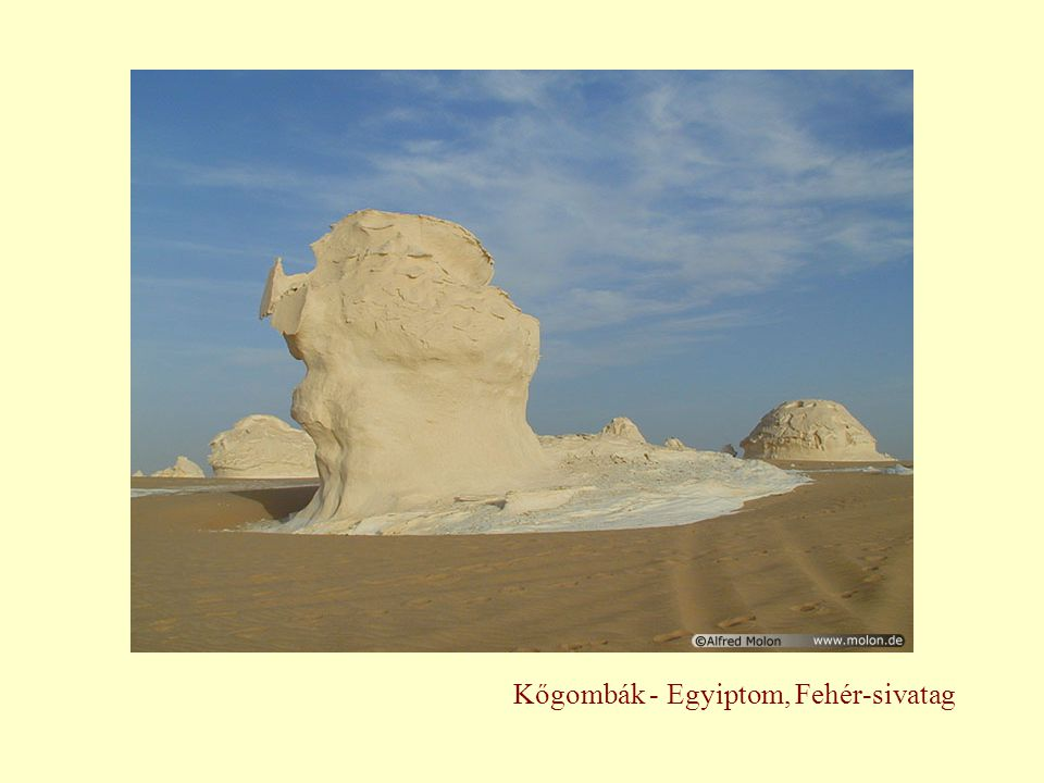 Kőgombák - Egyiptom, Fehér-sivatag