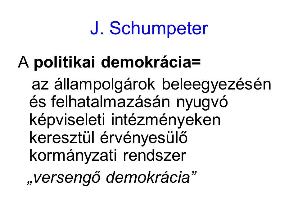 J. Schumpeter A politikai demokrácia=