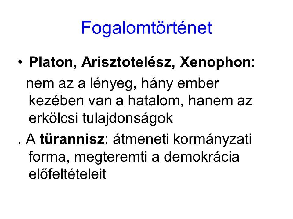Fogalomtörténet Platon, Arisztotelész, Xenophon: