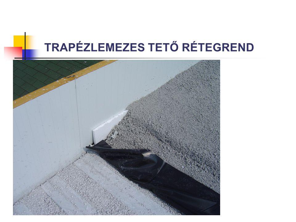 TRAPÉZLEMEZES TETŐ RÉTEGREND