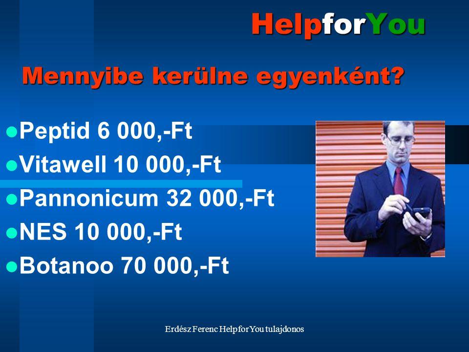 Erdész Ferenc HelpforYou tulajdonos