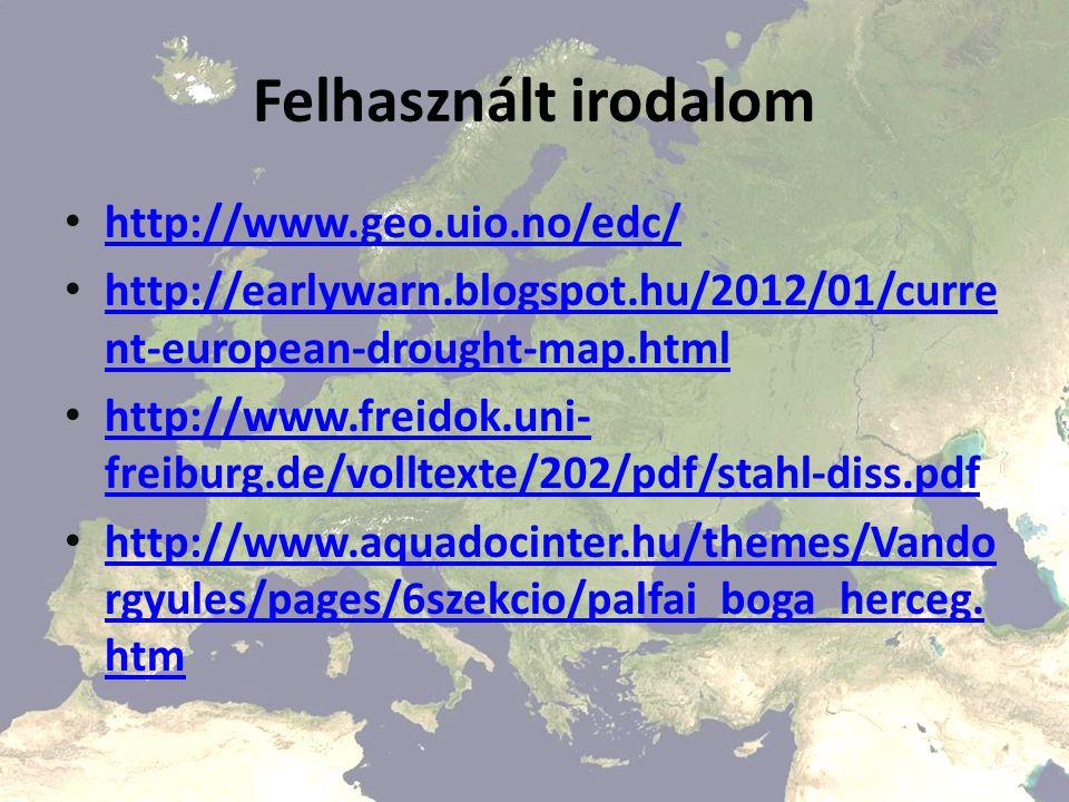 Felhasznált irodalom http://www.geo.uio.no/edc/