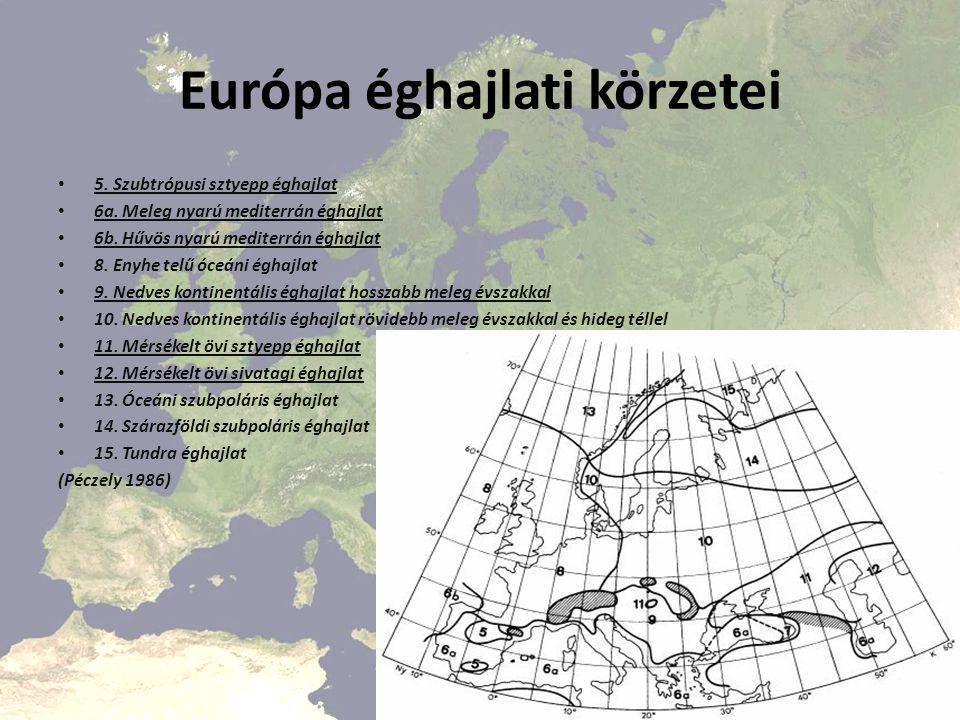 Európa éghajlati körzetei