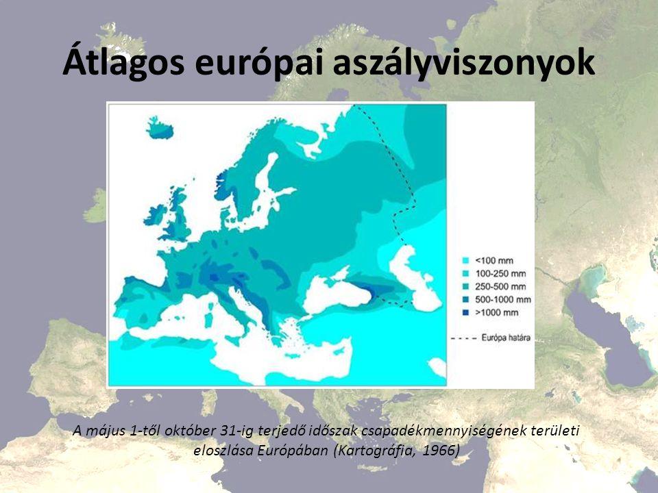 Átlagos európai aszályviszonyok