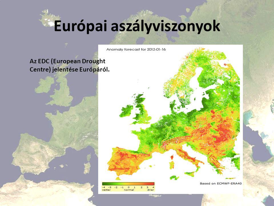 Európai aszályviszonyok