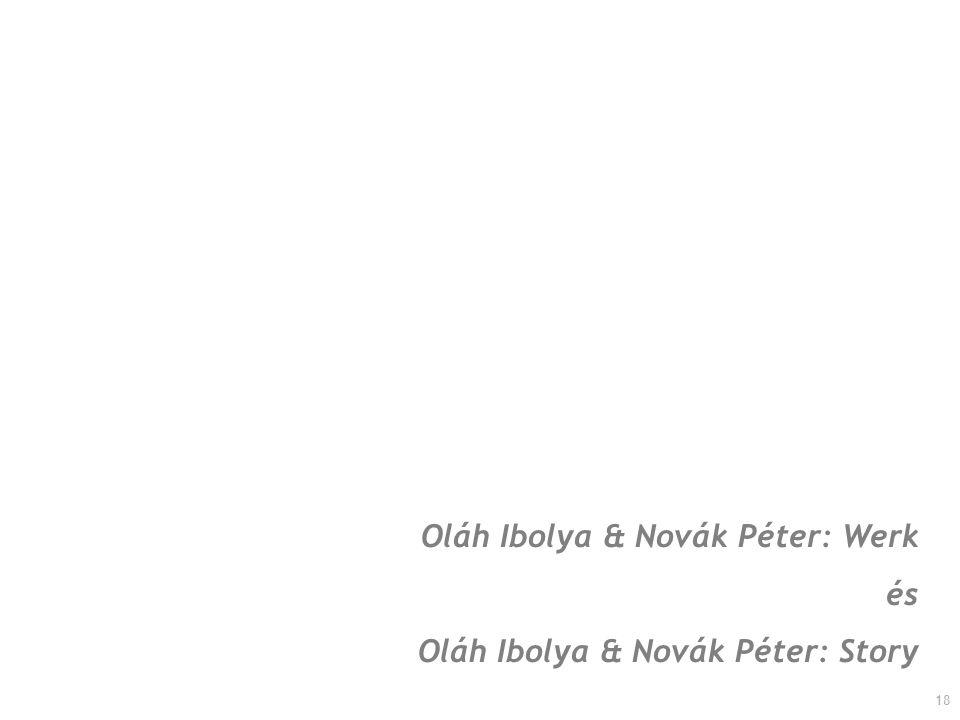 Oláh Ibolya & Novák Péter: Werk