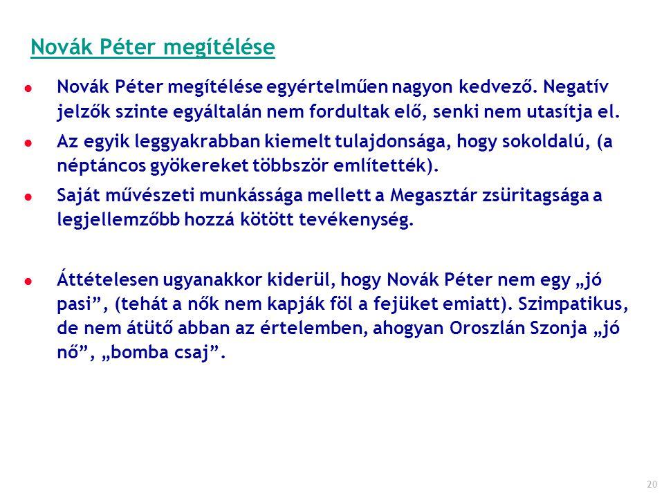 Novák Péter megítélése