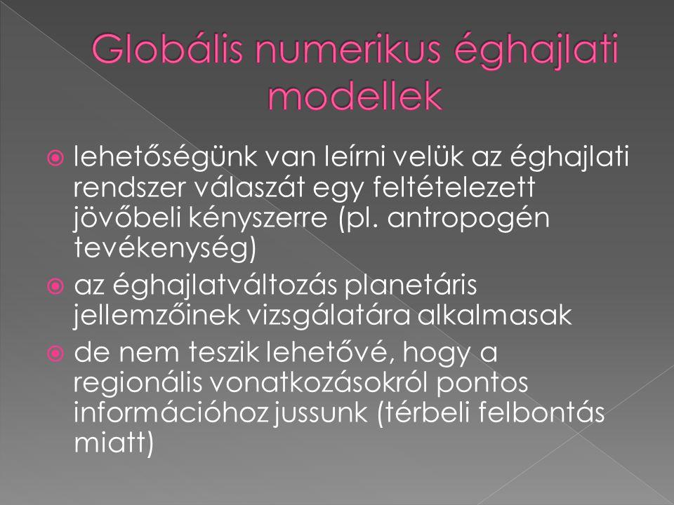Globális numerikus éghajlati modellek