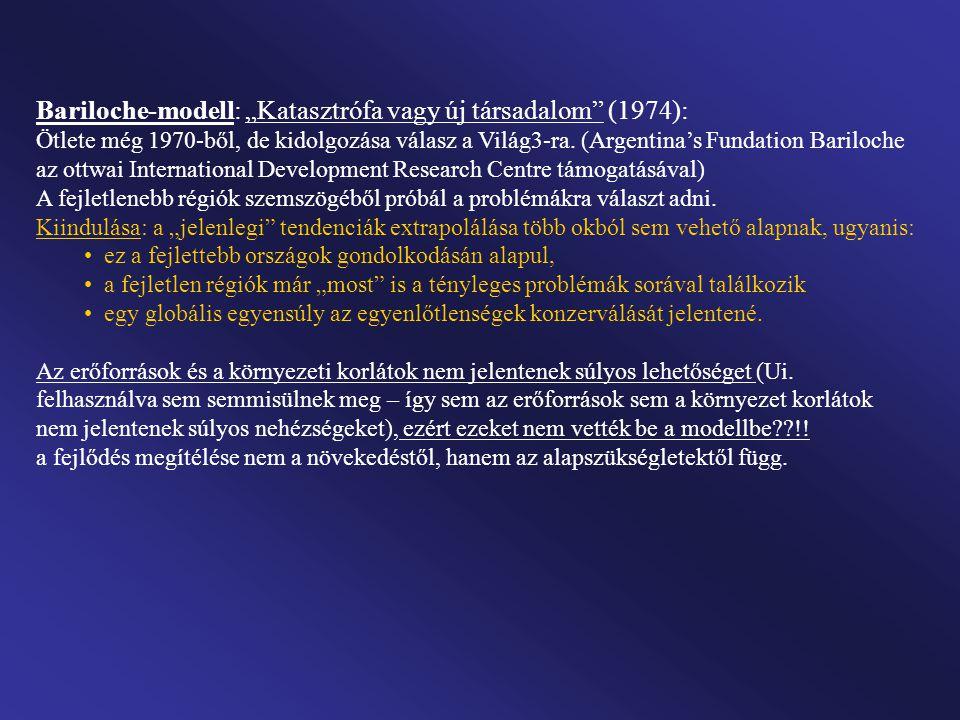 """Bariloche-modell: """"Katasztrófa vagy új társadalom (1974):"""