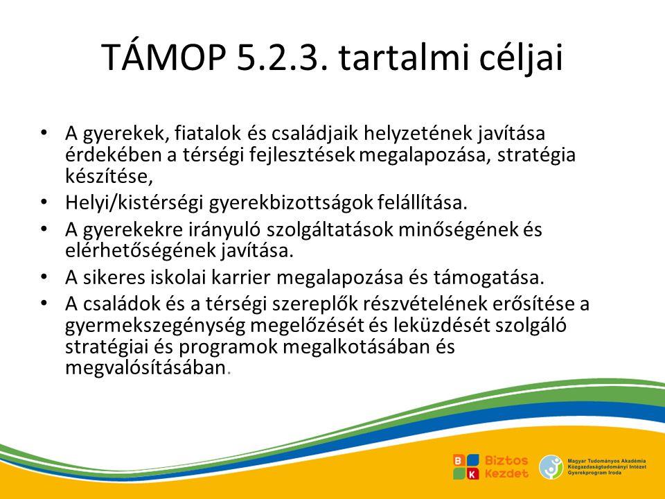 TÁMOP 5.2.3. tartalmi céljai