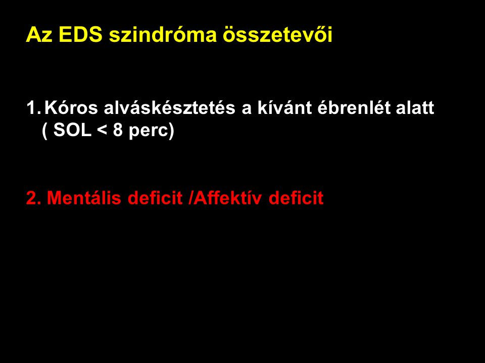 Az EDS szindróma összetevői