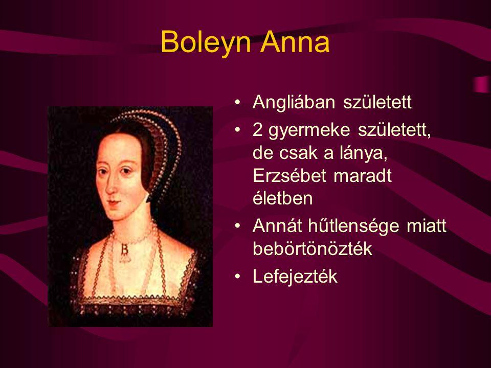 Boleyn Anna Angliában született