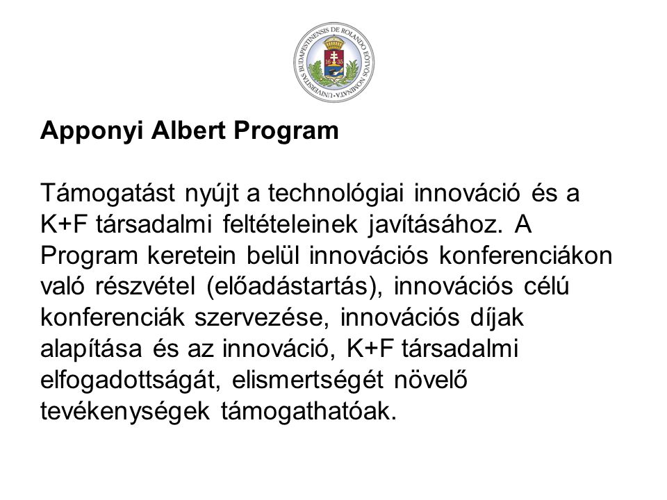 Apponyi Albert Program