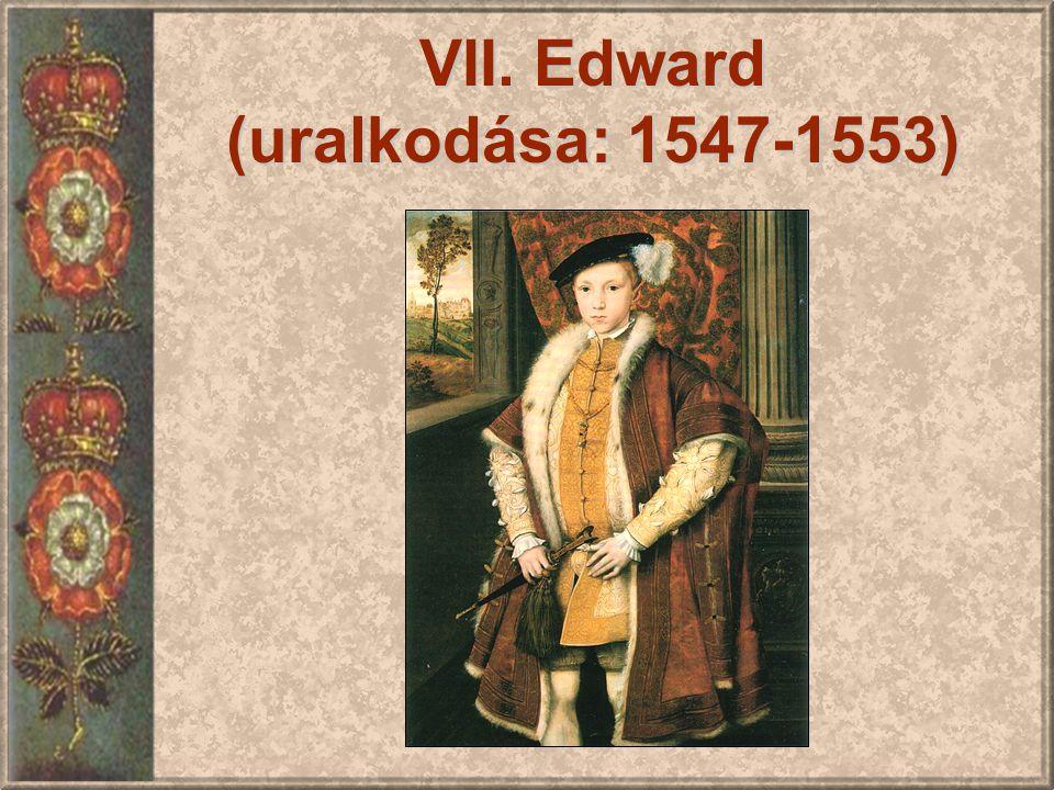 VII. Edward (uralkodása: 1547-1553)
