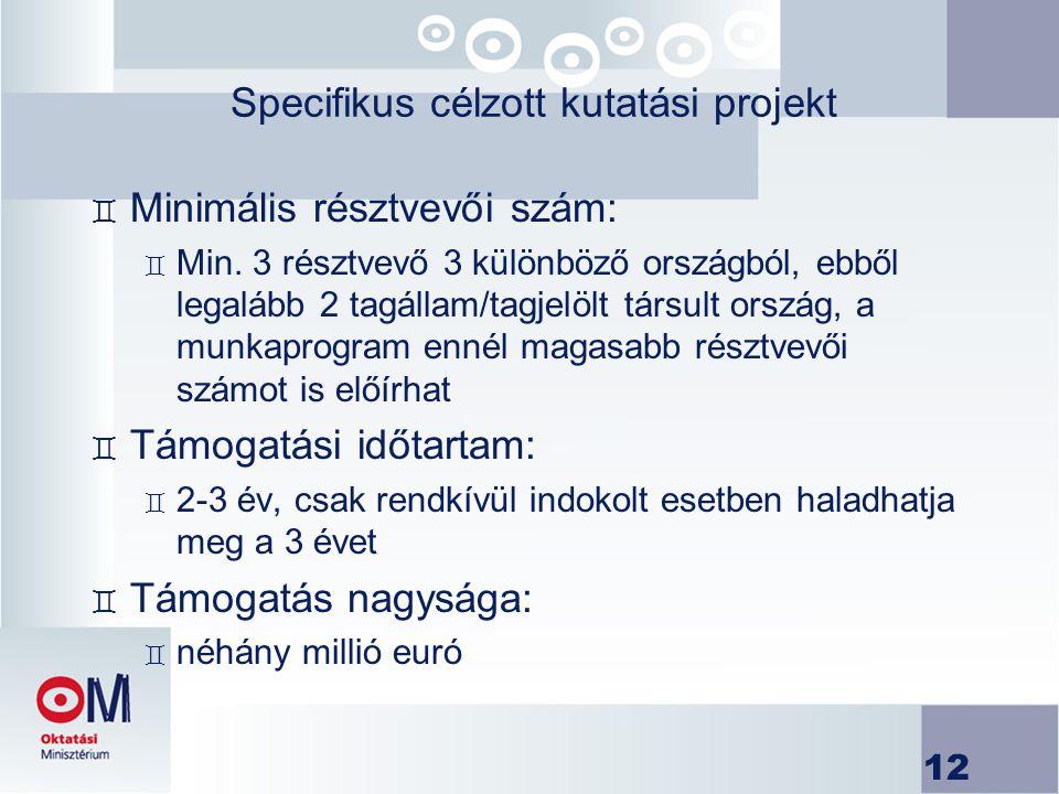 Specifikus célzott kutatási projekt