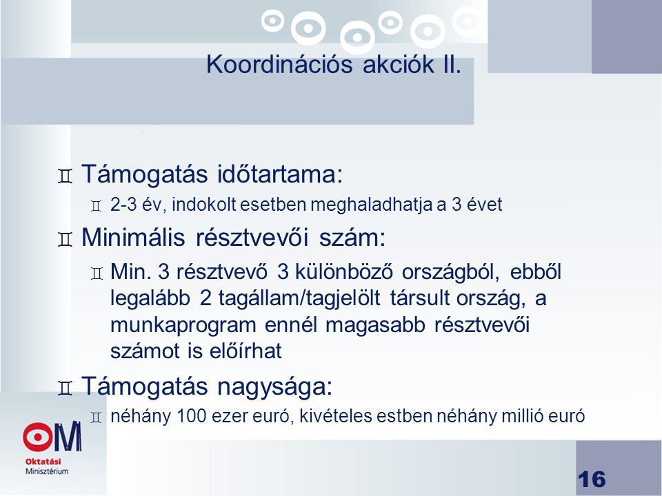 Koordinációs akciók II.