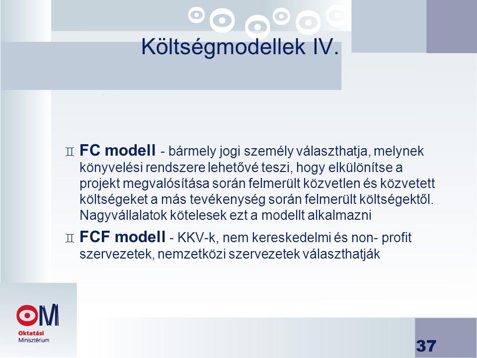 Költségmodellek IV.