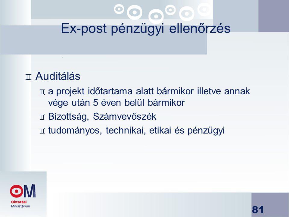 Ex-post pénzügyi ellenőrzés