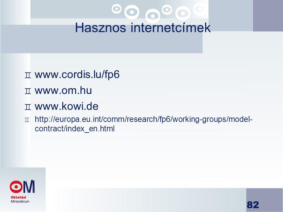 Hasznos internetcímek