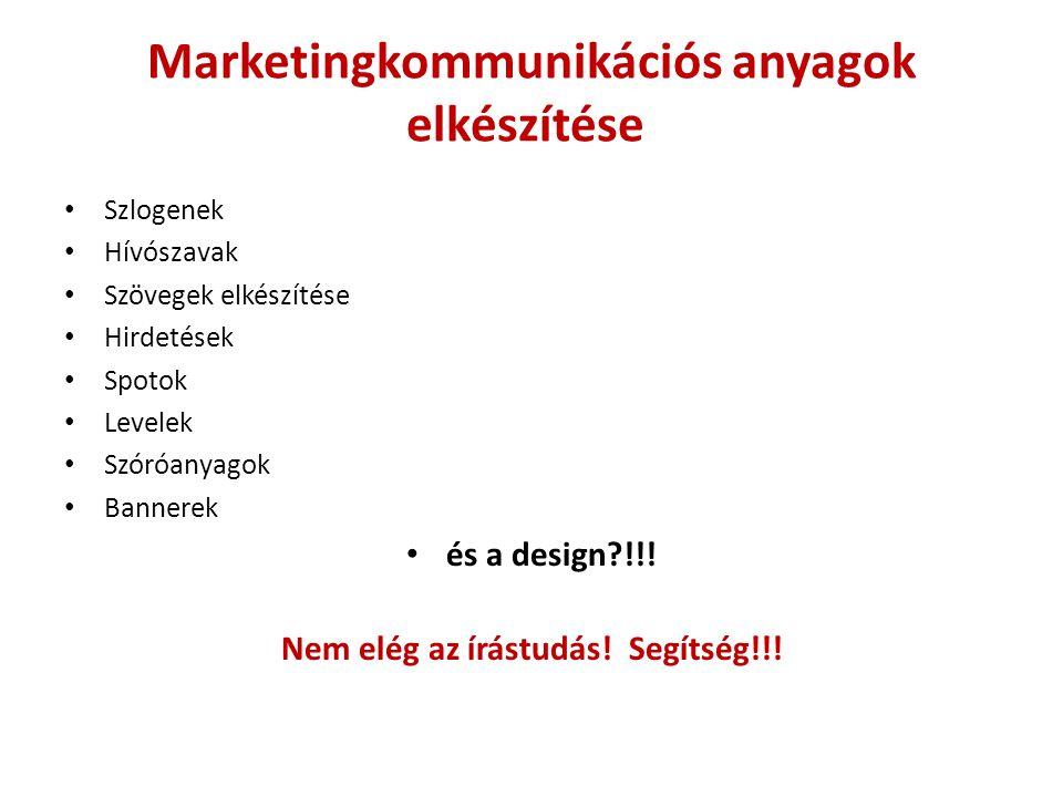 Marketingkommunikációs anyagok elkészítése