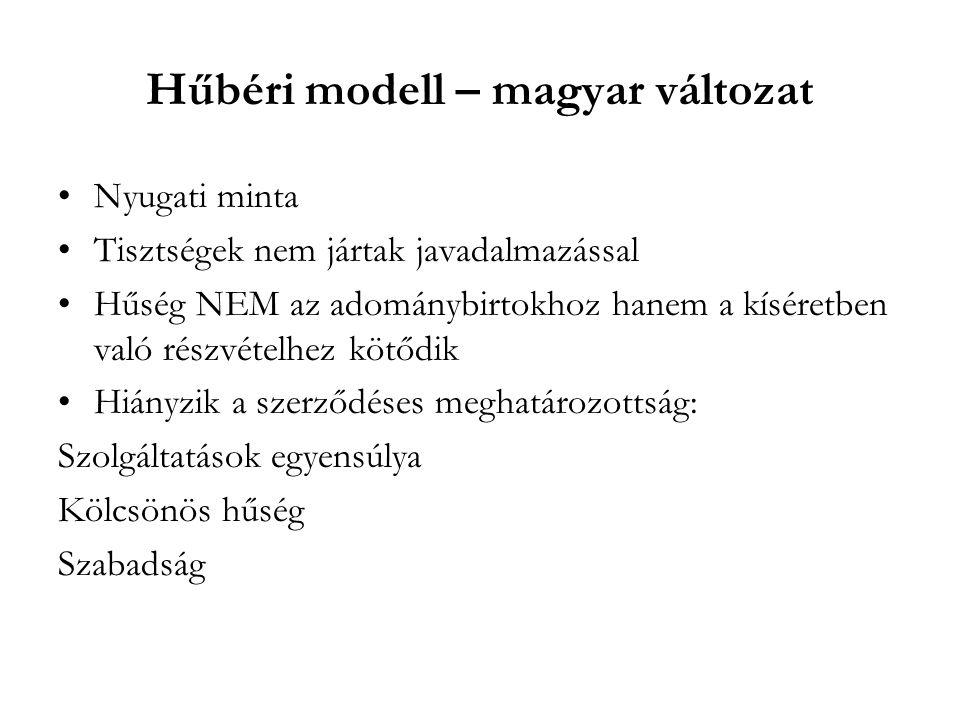 Hűbéri modell – magyar változat