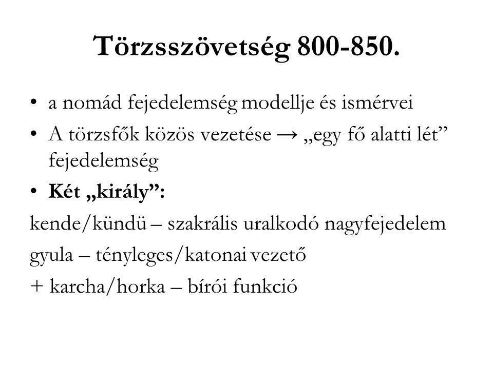 Törzsszövetség 800-850. a nomád fejedelemség modellje és ismérvei