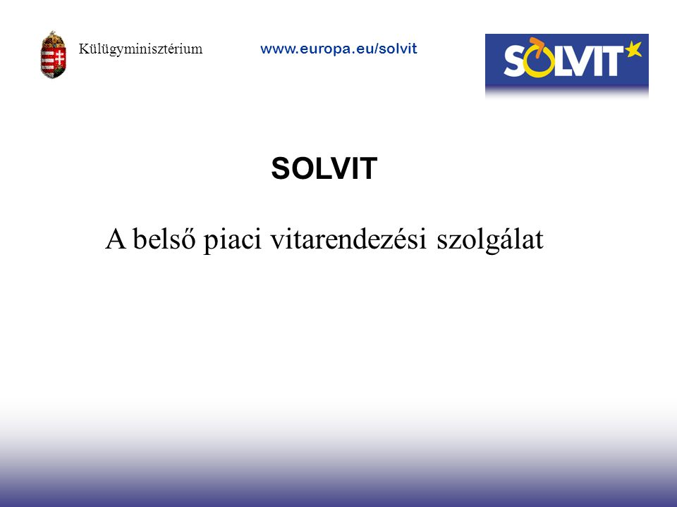 A belső piaci vitarendezési szolgálat