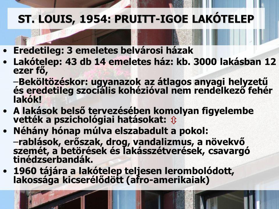 ST. LOUIS, 1954: PRUITT-IGOE LAKÓTELEP