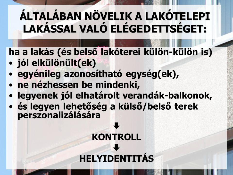 ÁLTALÁBAN NÖVELIK A LAKÓTELEPI LAKÁSSAL VALÓ ELÉGEDETTSÉGET: