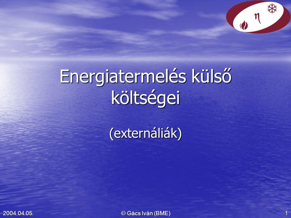 Energiatermelés külső költségei