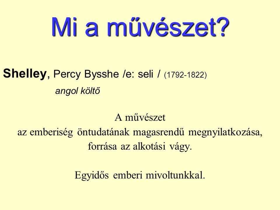 Mi a művészet Shelley, Percy Bysshe /e: seli / (1792-1822)