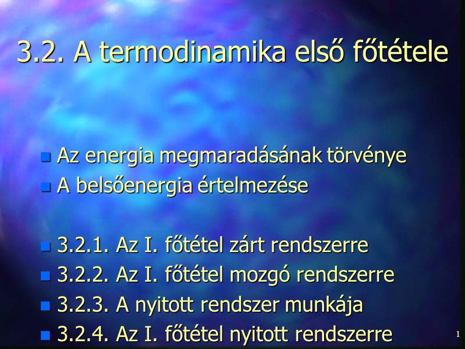 3.2. A termodinamika első főtétele