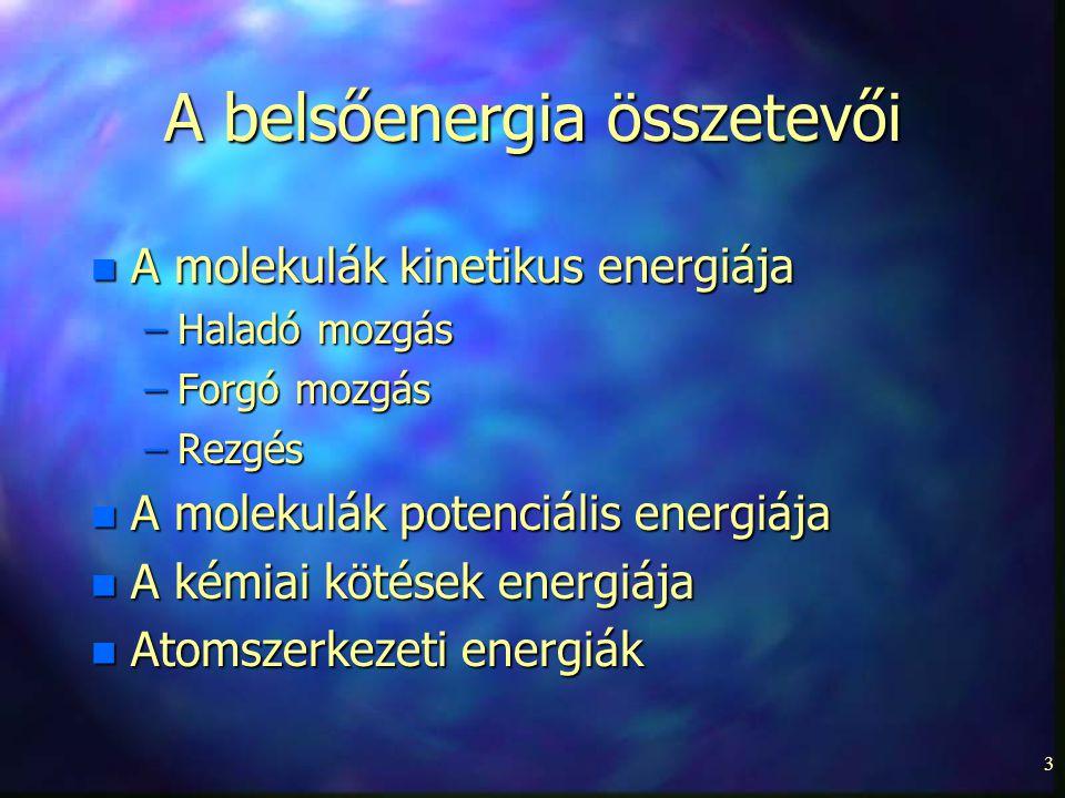 A belsőenergia összetevői