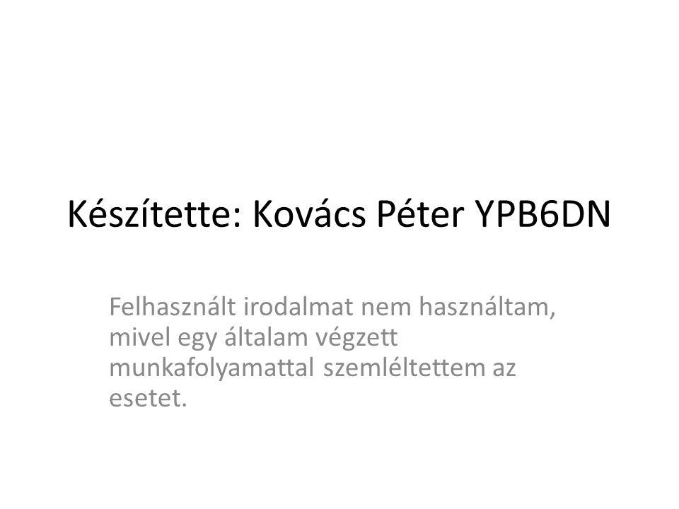 Készítette: Kovács Péter YPB6DN