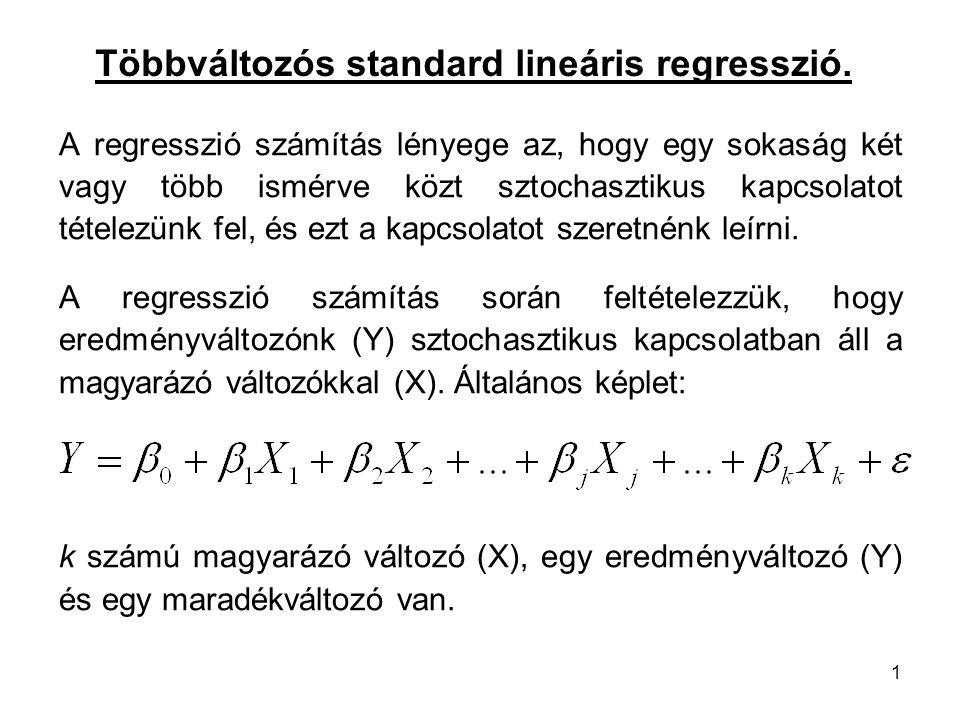 Többváltozós standard lineáris regresszió.