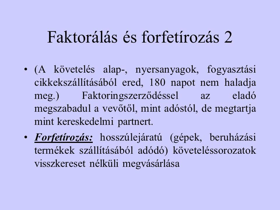 Faktorálás és forfetírozás 2