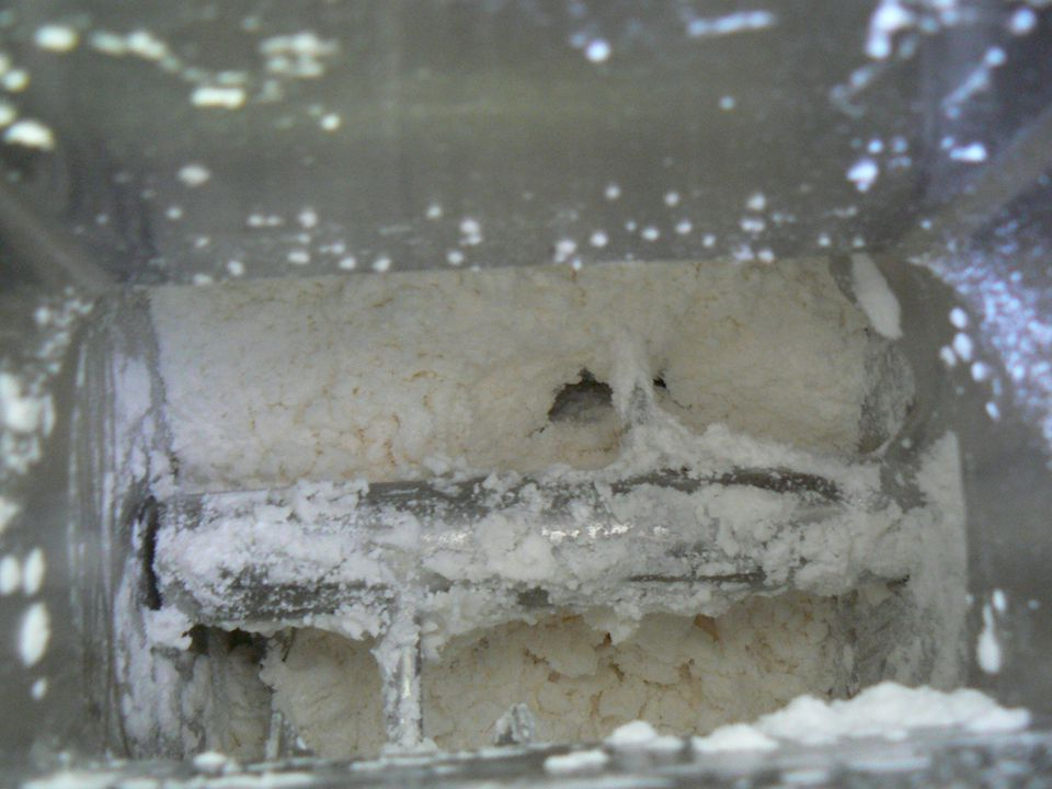 Előállítás menete A granulálandó anyagot betöltése a készülék dobjába