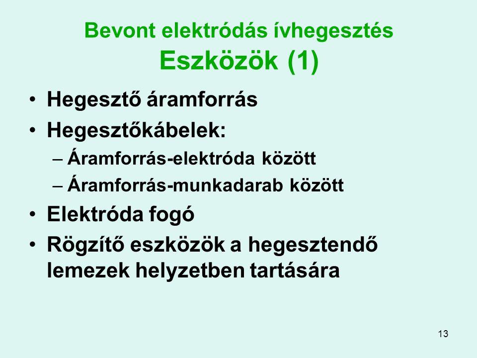 Bevont elektródás ívhegesztés Eszközök (1)
