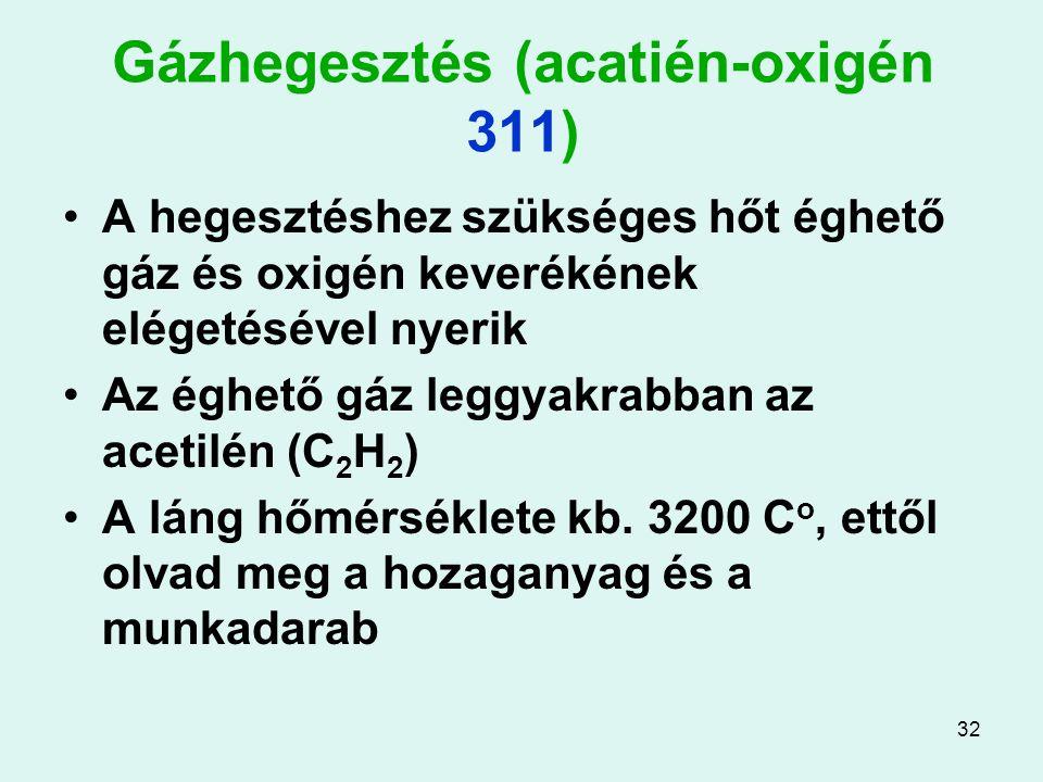 Gázhegesztés (acatién-oxigén 311)