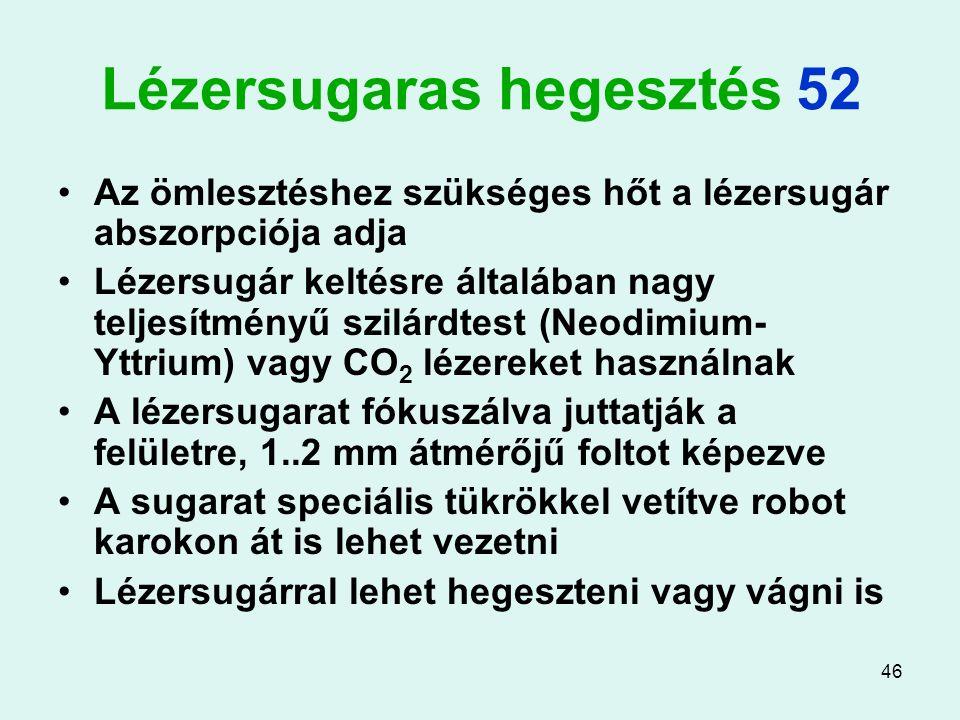 Lézersugaras hegesztés 52