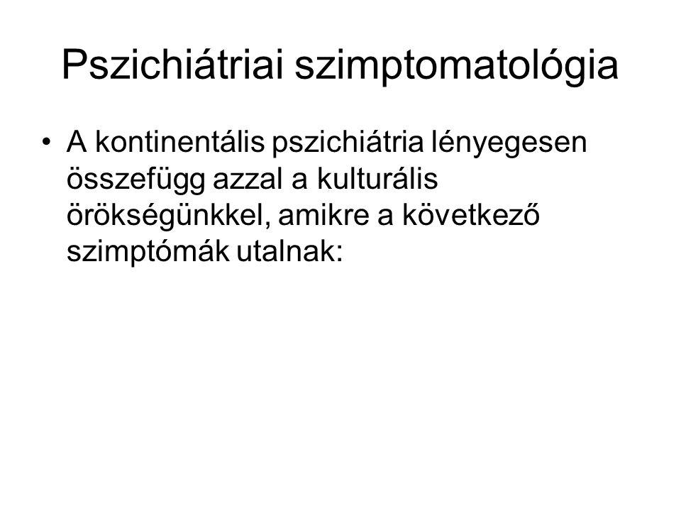 Pszichiátriai szimptomatológia