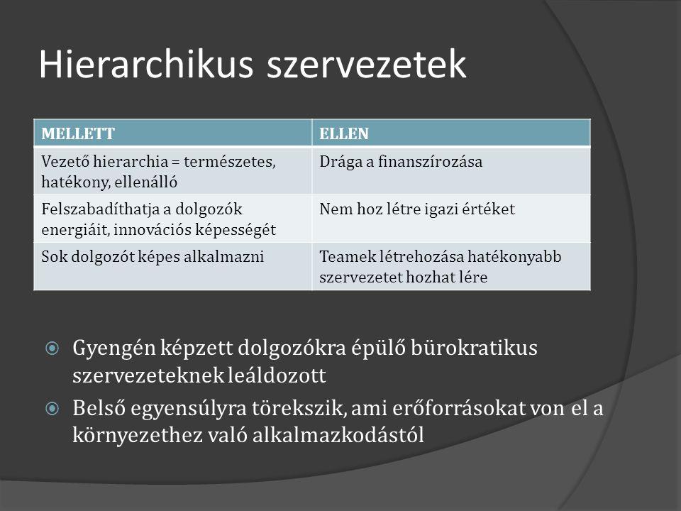 Hierarchikus szervezetek
