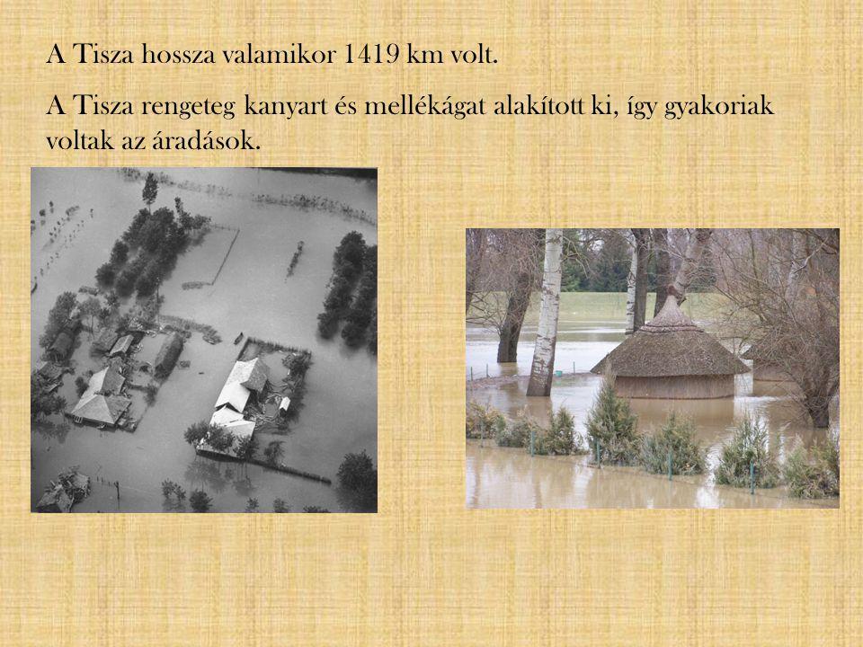 A Tisza hossza valamikor 1419 km volt.