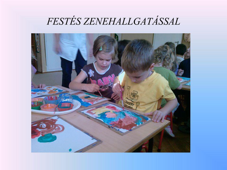 FESTÉS ZENEHALLGATÁSSAL