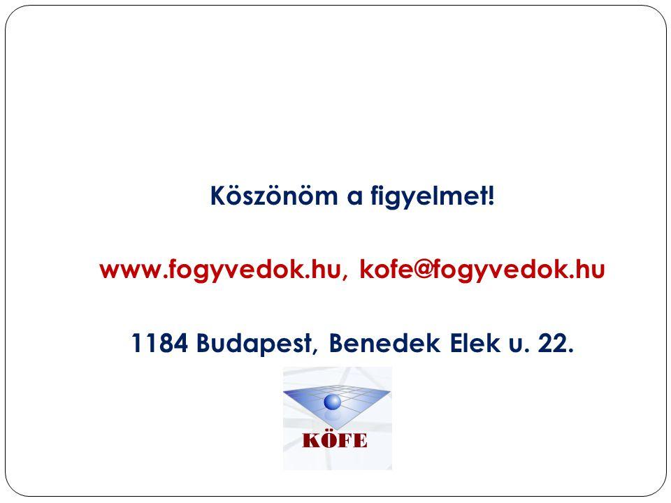www.fogyvedok.hu, kofe@fogyvedok.hu 1184 Budapest, Benedek Elek u. 22.